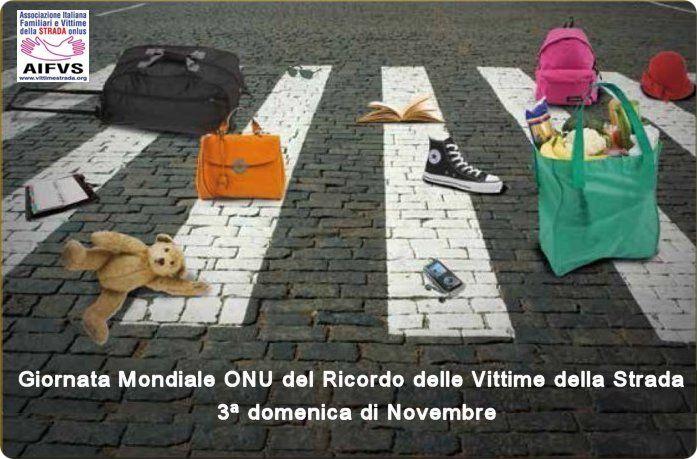 Domenica 19 la Giornata mondiale in memoria delle vittime della strada