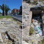 In viale Santa Panagia le tombe di una necropoli greca utilizzate come pattumiere