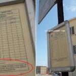 Autobus urbani, in via Lazio il n. 13 non passa da ...13 anni. Però c'è ancora la tabella!